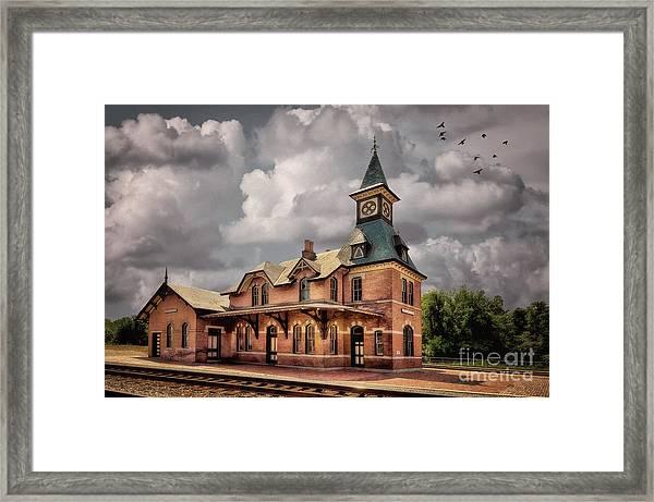 Train Station At Point Of Rocks Framed Print