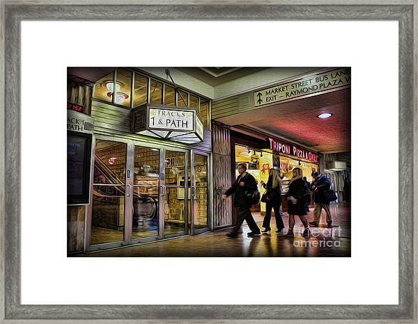 Train Station - Going Home Framed Print by Lee Dos Santos