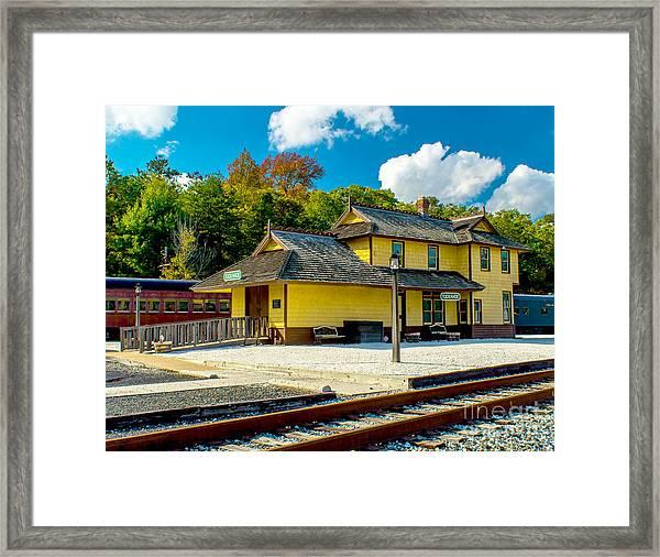 Train Station In Tuckahoe Framed Print
