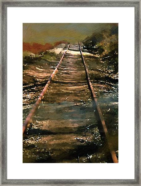 Train Track To Hell Framed Print