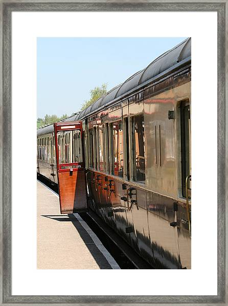 Train Transport Framed Print