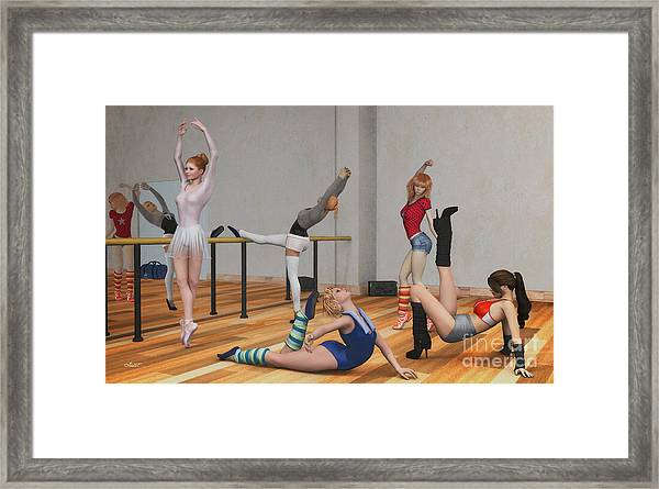 Training Framed Print