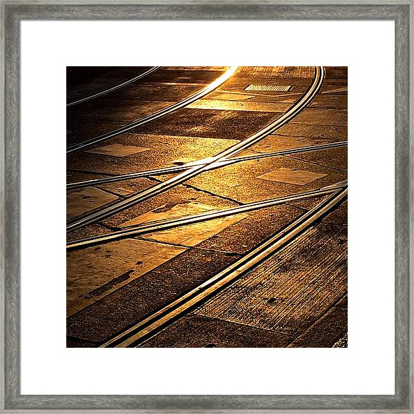 Tram Tracks Framed Print