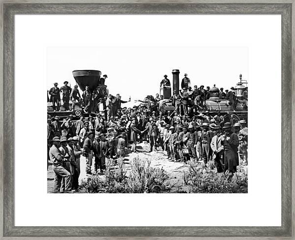 Transcontinental Railroad Framed Print
