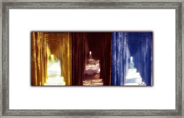 Transforming Waters  Orginal Piece Framed Print
