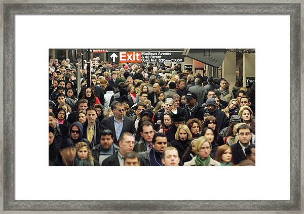 Transit Strike Looms For New York City Commuters Framed Print by Mario Tama