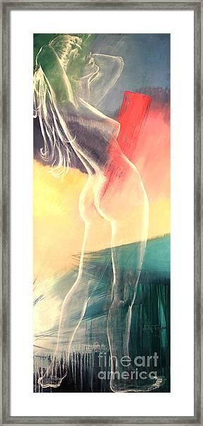 Transparent Nude Framed Print
