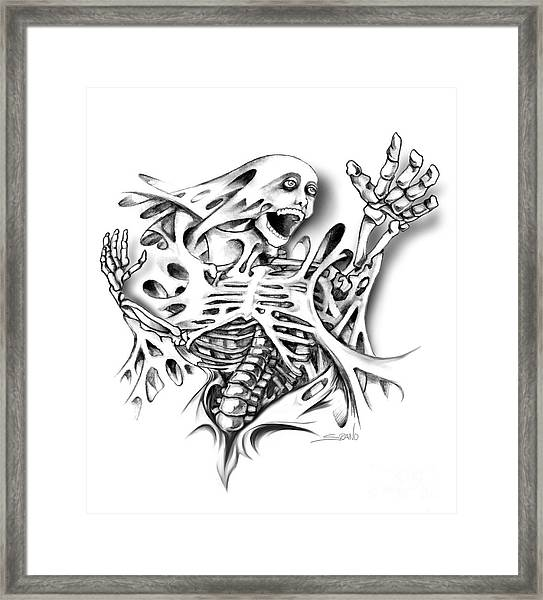 Trapped Skeleton By Spano Framed Print
