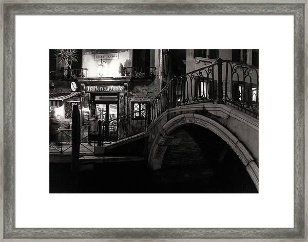 Trattoria Al Ponte Framed Print