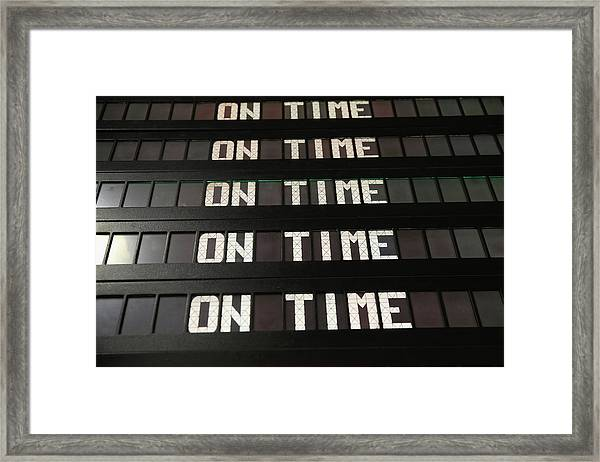 Travelers Embark On Holiday Travel Day Framed Print