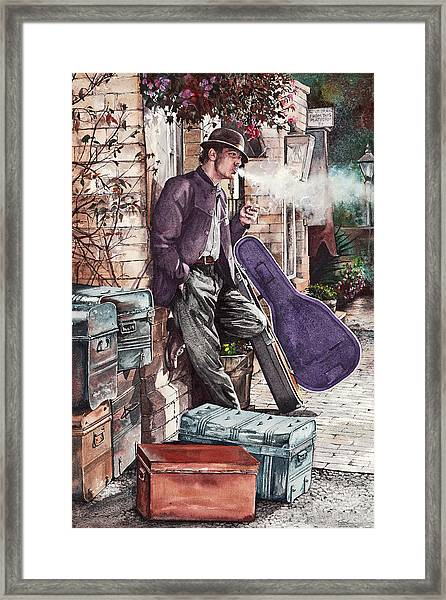Travelling Man Framed Print