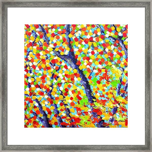 Tree At Fall Framed Print