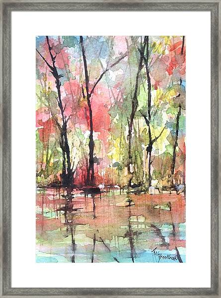 Tree Line Reflections Framed Print