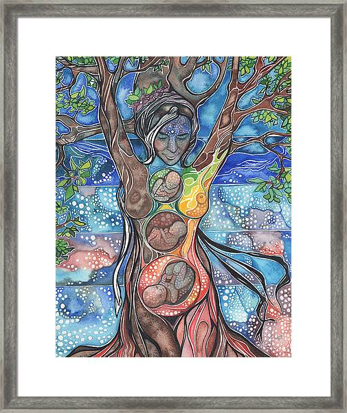 Tree Of Life - Cha Wakan Framed Print