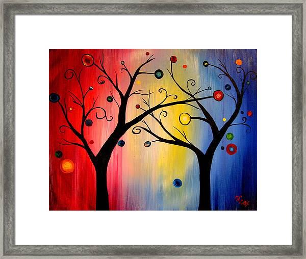 Tree Of Lights Framed Print