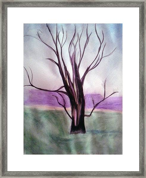 Tree Watercolor Framed Print