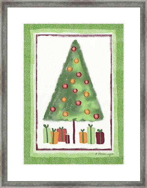 Tree With Presents Framed Print