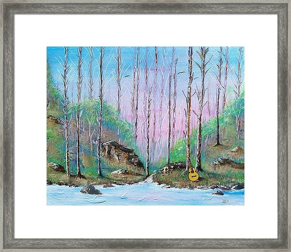 Trees With Cuatro Framed Print