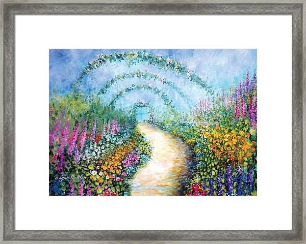 Framed Print featuring the painting Trellis II by Lynn Buettner