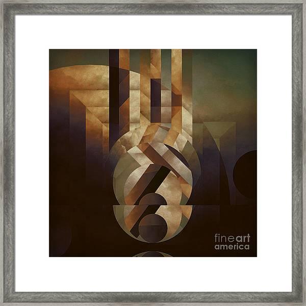 Tremulous Sphere Framed Print
