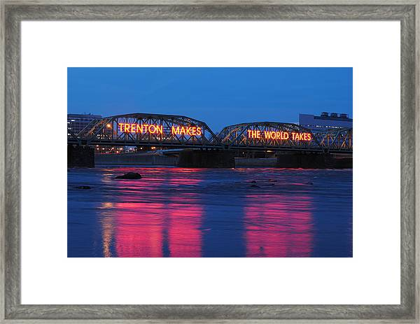 Trenton Makes Framed Print