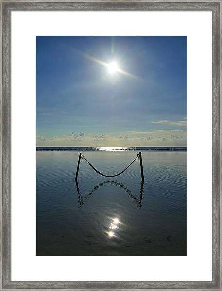 Framed Print featuring the photograph Tres Luces by Skip Hunt