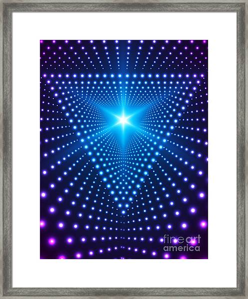 Triangle Border With Light Effects Framed Print