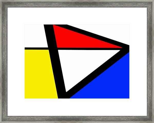 Triangularism I Framed Print