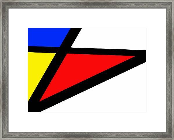 Triangularism II Framed Print