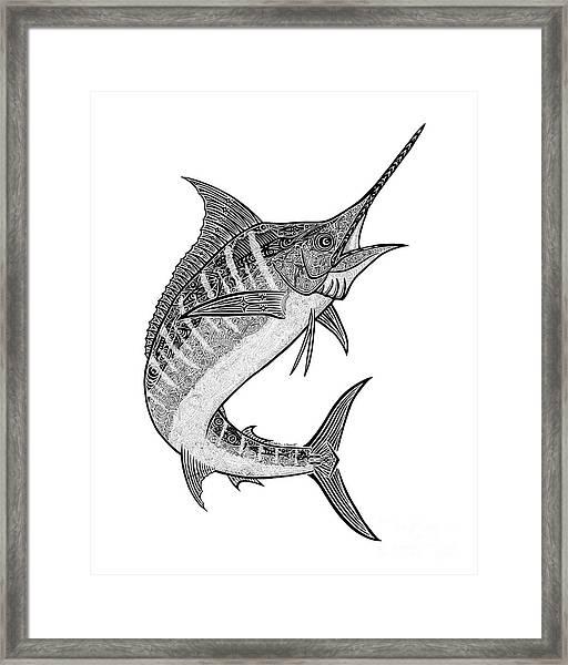 Tribal Marlin IIi Framed Print