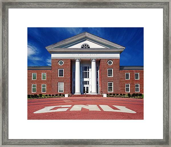 Trible Library Christopher Newport University Framed Print