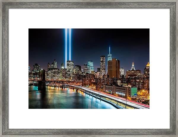 Tribute In Light Memorial Framed Print