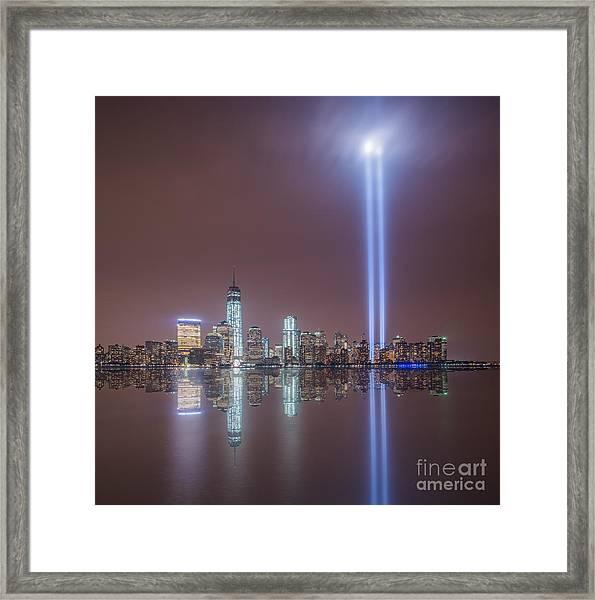 Tribute In Light Framed Print