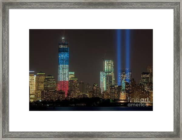 Tribute In Light Xiii Framed Print