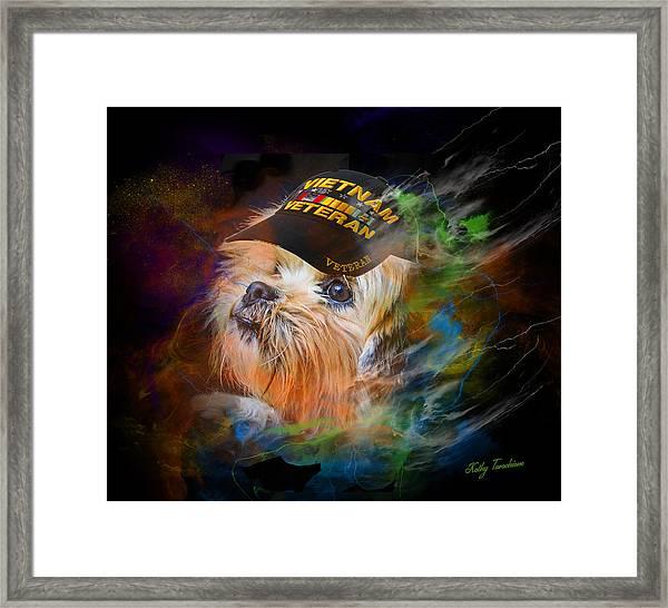 Tribute To Canine Veterans Framed Print