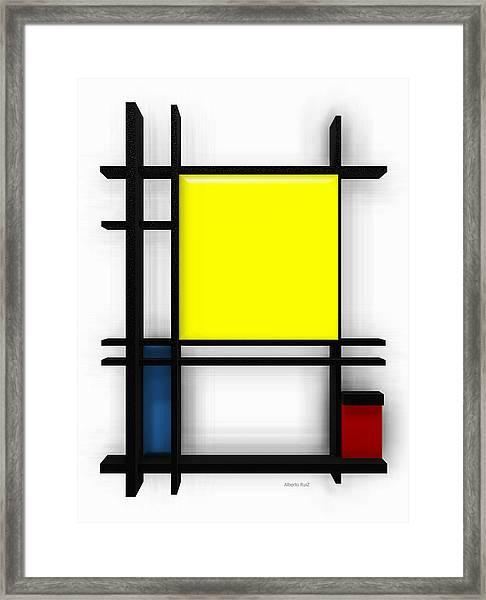 tribute to Mondrian 1 Framed Print