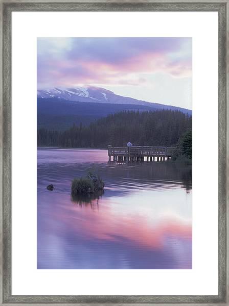 Trillium Lake Sunrise Framed Print