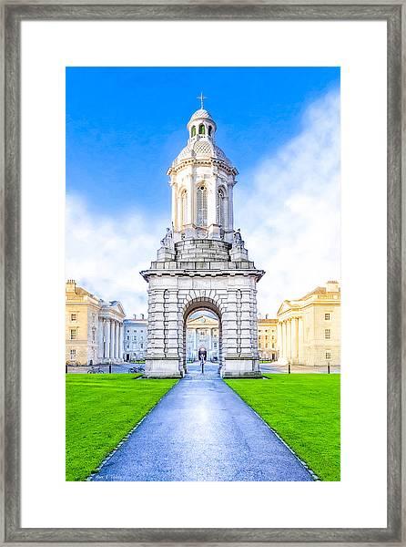 Trinity College Campanille - Dublin Ireland Framed Print