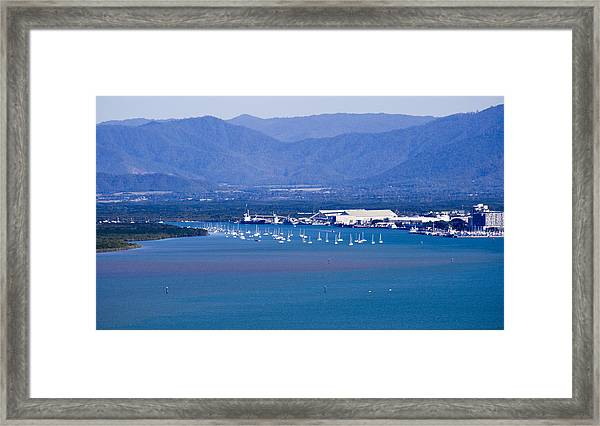 Framed Print featuring the photograph Trinity Inlet From The Air by Debbie Cundy