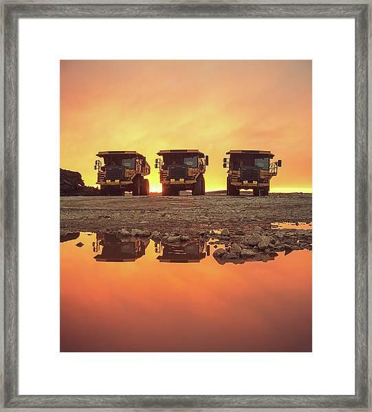 Trio Of Trucks Framed Print