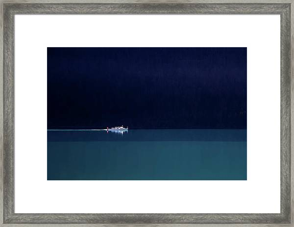 Trip Into The Blue Framed Print