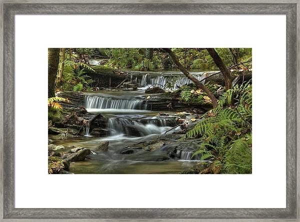 Triple Falls Framed Print