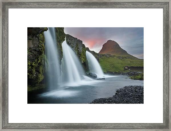 Triple Falls Framed Print by Karsten Wrobel
