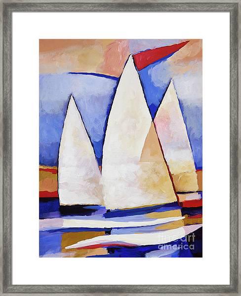 Triple Sails Framed Print