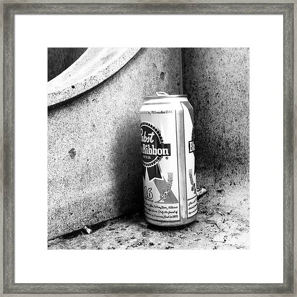 Tripleb. Beer, Butts, Bench. #chicago Framed Print