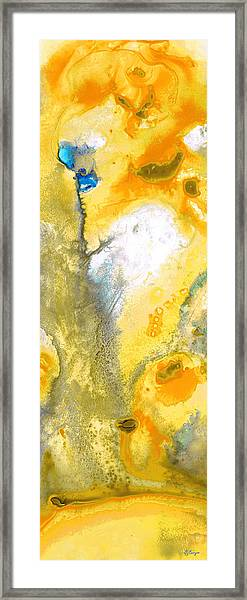Triumph - Yellow Abstract Art By Sharon Cummings Framed Print