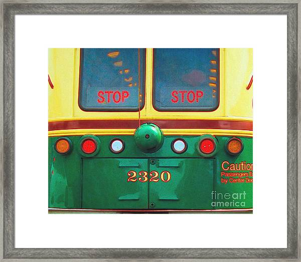 Trolley Car - Digital Art Framed Print