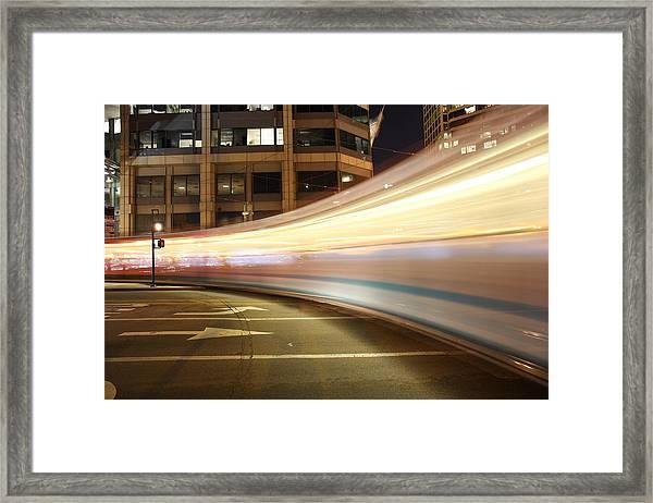 Trolley Madness Framed Print
