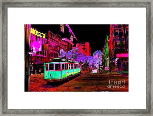 Trolley Night Digital  Framed Print
