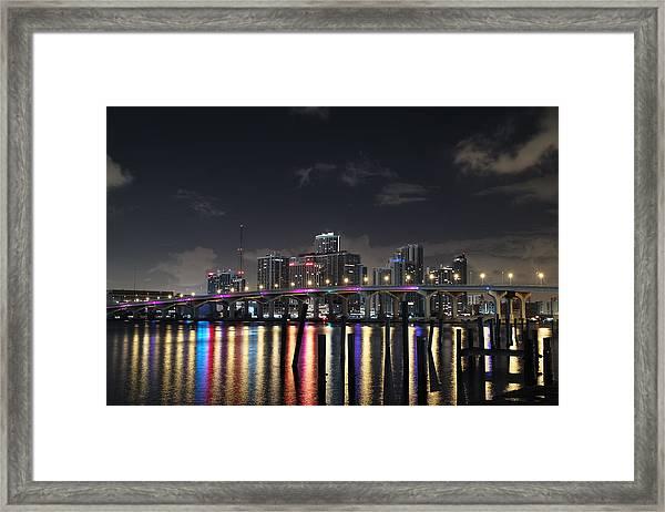Trooper Bridge Miami Framed Print